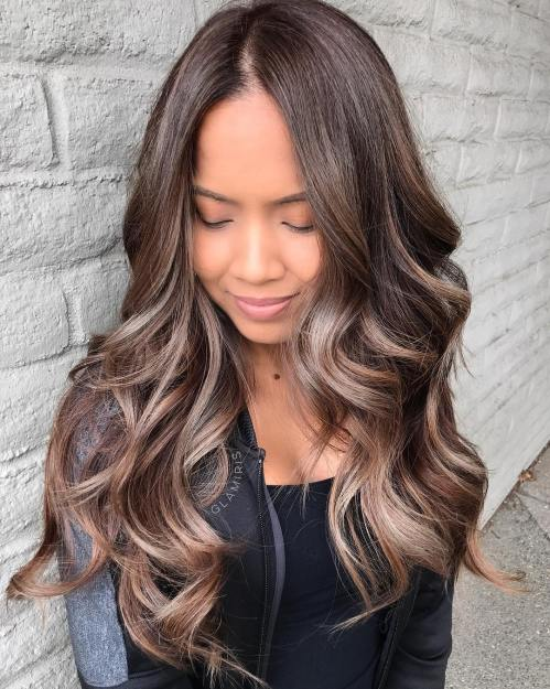 Cool Bronde Balayage For Brunettes