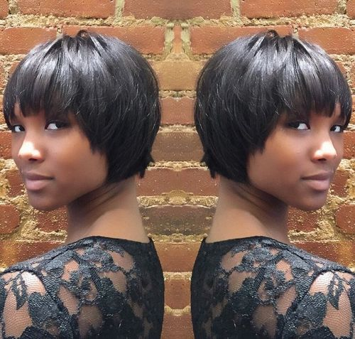 50 most captivating african american short hairstyles and haircuts african american cropped bob hairstyle urmus Images