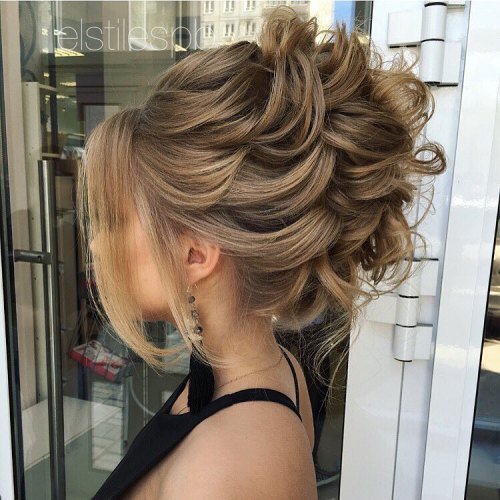 40 most delightful prom updos for long hair in 2017 messy loose formal updo urmus Choice Image