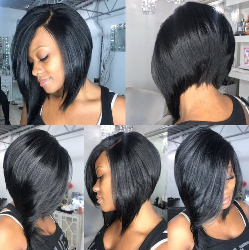 Black Stacked Bob