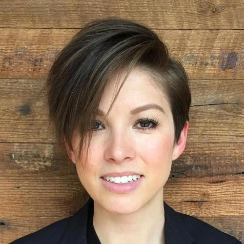 100 mind blowing short hairstyles for fine hair short haircut with long side bangs urmus Choice Image