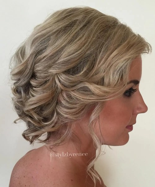 "Short Curly Hairstyles Wedding: 40 Best Short Wedding Hairstyles That Make You Say ""Wow!"""