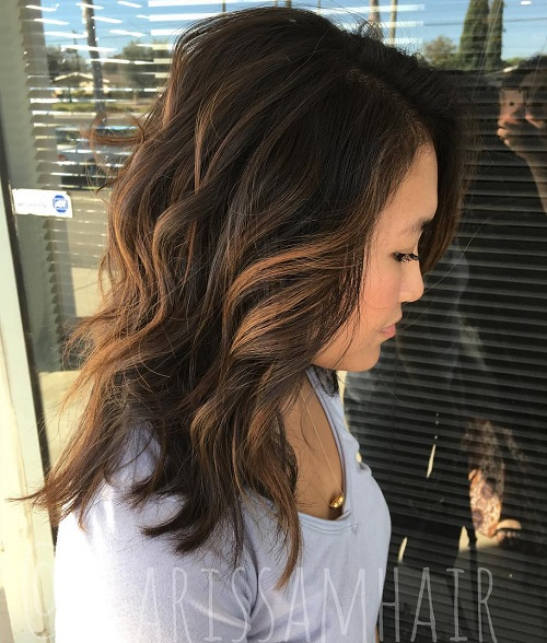 Copper Highlights On Black Hair Www Pixshark Com
