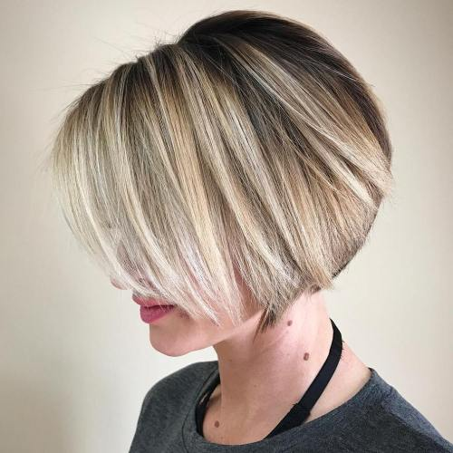 Neat Short Rounded Bob For Straight Hair
