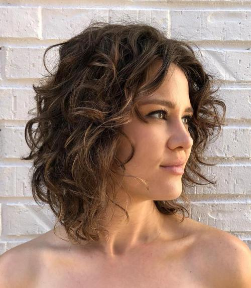 Short-To-Medium Cut For Natural Wavy Hair