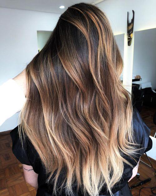 High-Contrast Balayage Hair