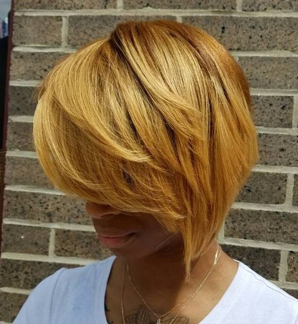 African American Honey Blonde Bob