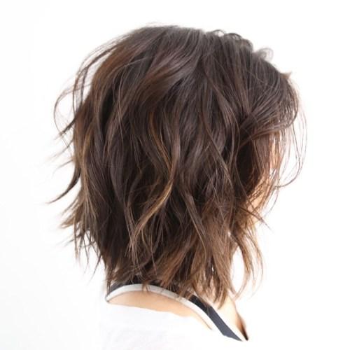 Medium Shag Hairstyles medium shag hairstyles for older women with bangs medium shag hairstyles medium hair Brown Shag With Subtle Highlights