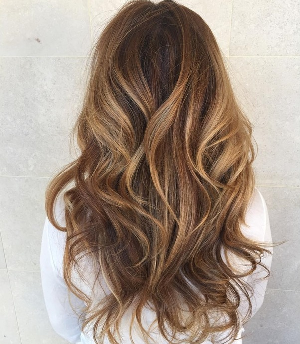 Perfect Long Layered Caramel Balayage Hair