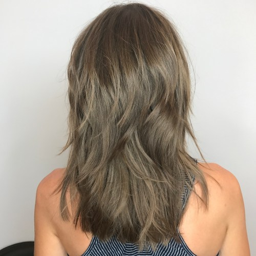 Medium Ash Brown Hairstyle With Layers