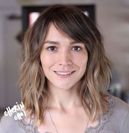Mid-Length Brown Ombre Shag