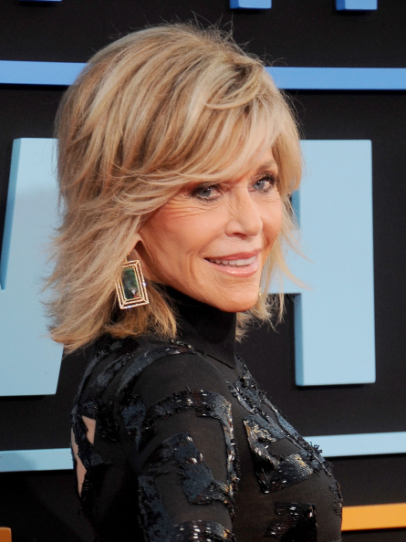 Jane Fonda sexy layered hairstyle