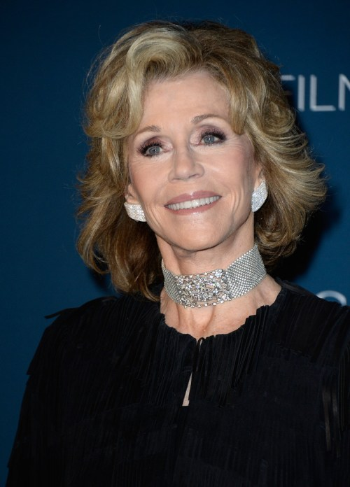 Jane Fonda shag hairstyle for medium length