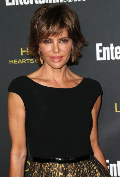 Lisa Rinna layered A-line hairstyle