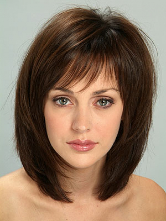 Layered Shoulder Length Haircuts For Middle Aged Women