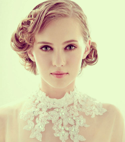 "Curly Wedding Hairstyle: 50 Best Short Wedding Hairstyles That Make You Say ""Wow!"""