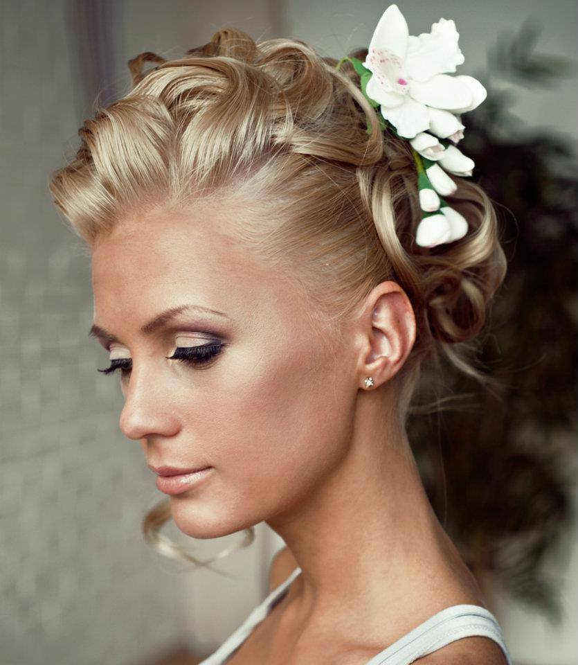 "Curly Updo Hairstyles For Weddings: 50 Best Short Wedding Hairstyles That Make You Say ""Wow!"""