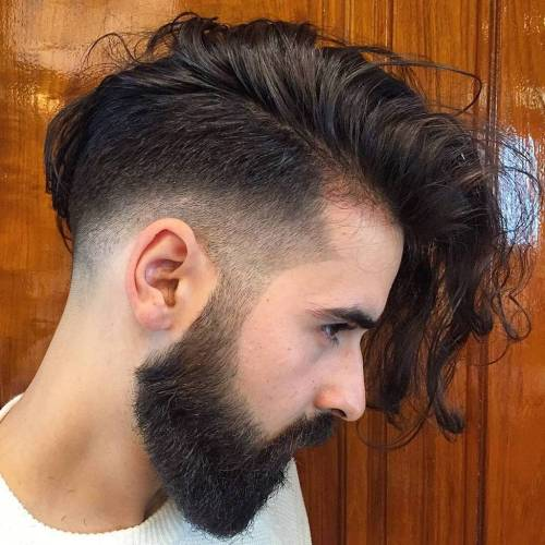 Men's Long Undercut Haircut