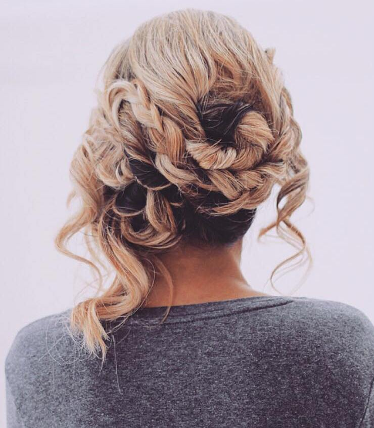 Messy Updo For Medium Hair