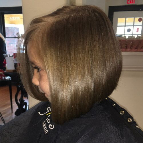 Sleek Side-Parted Bob For Girls