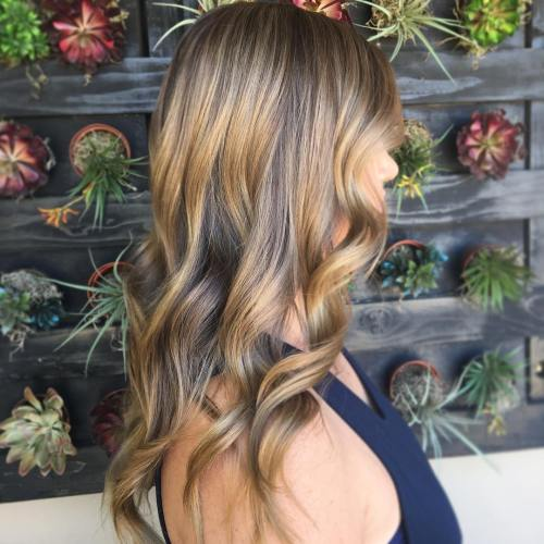 Ash Brown Hair With Golden Highlights