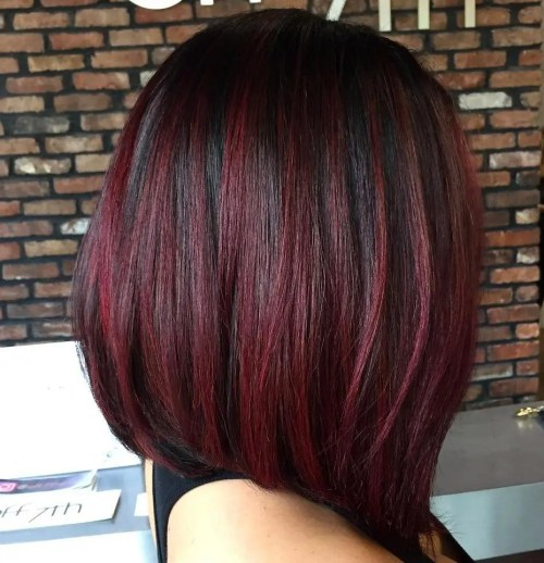 50 Shades Of Burgundy Hair Color Dark Maroon Red Wine Red Violet