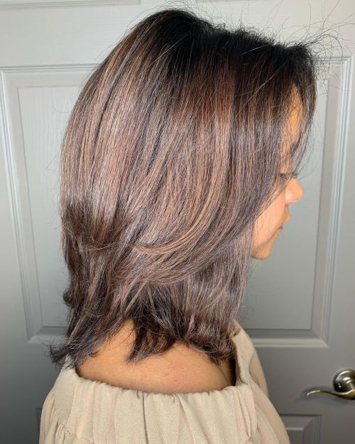 Shoulder Length Shag Hairstyle For Girls