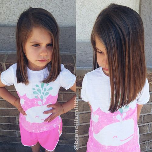 cool lob haircut for girls with thick hair