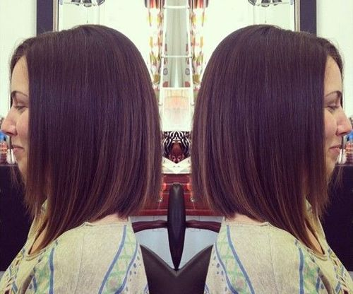 Straight A-Line Bob Haircut for Shoulder Length Hair
