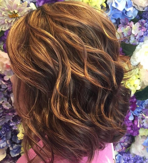 Brown And Caramel Two Tone Hair