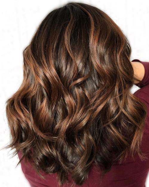 Chocolate Hair With Caramel Highlights