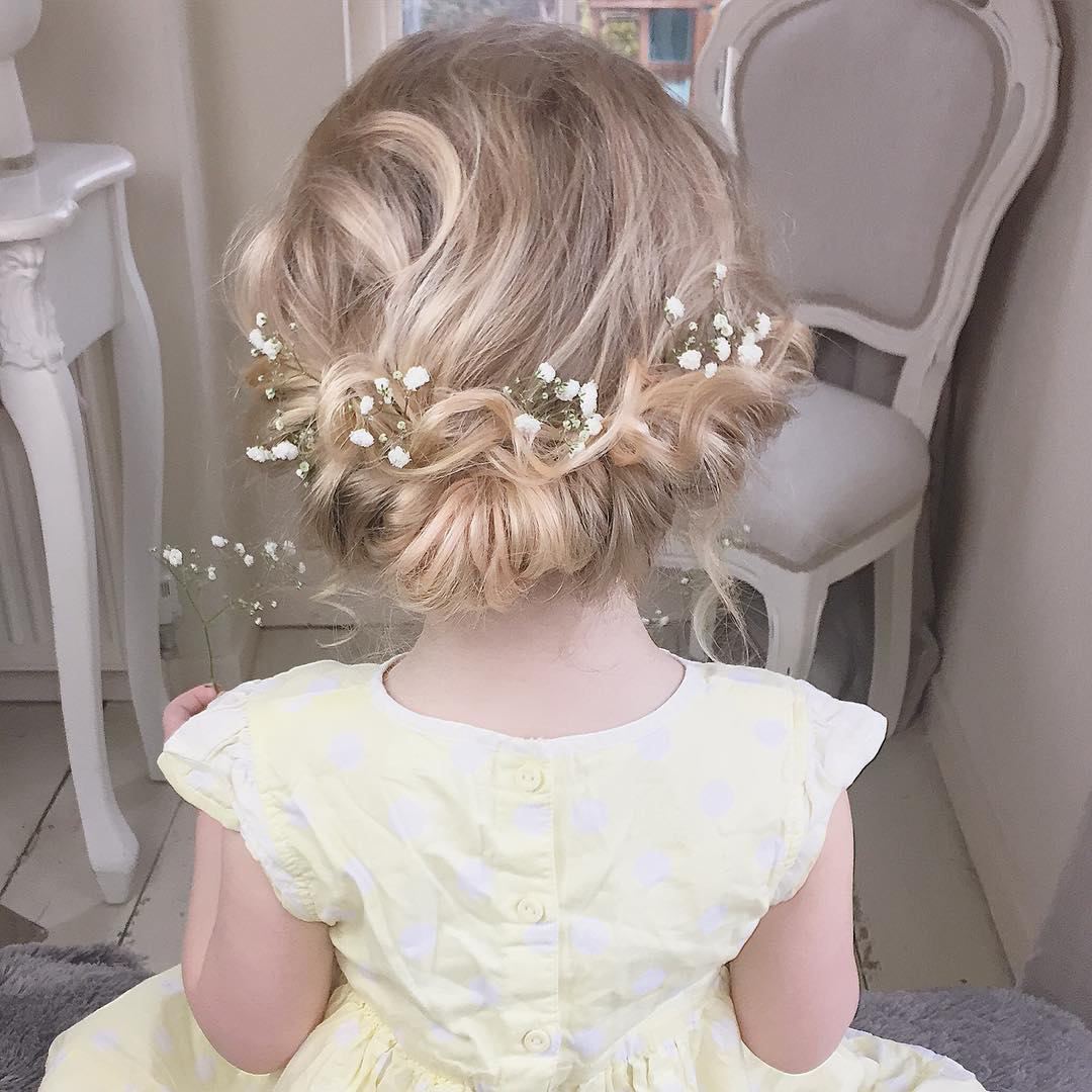 Formal Updo For Toddlers