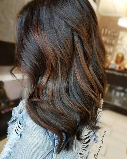Subtle Auburn Highlights for Brown Hair