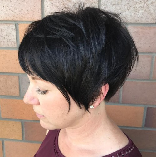 Very Short Black Pixie