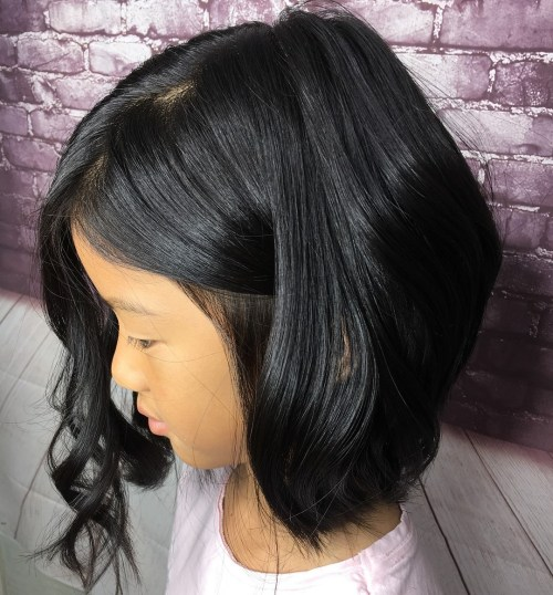 Wavy Bob For Girls
