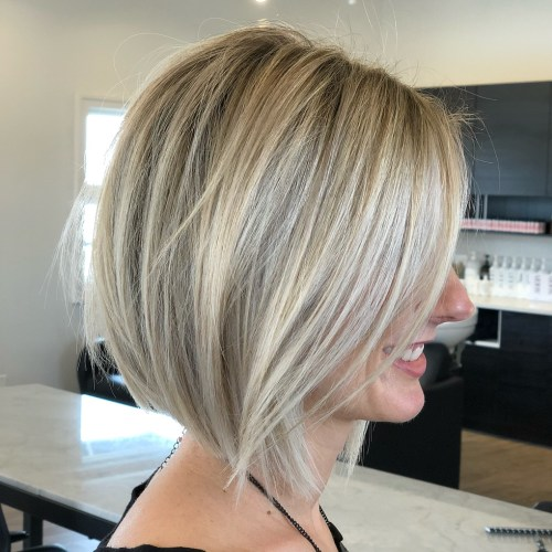 Blonde Balayage Bob For Straight Hair