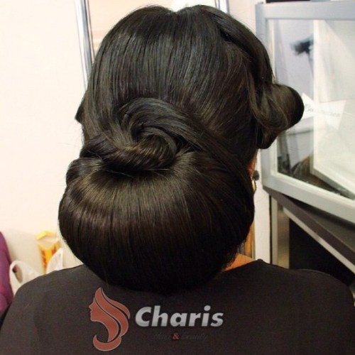 Formal Chignon For Long Thick Hair