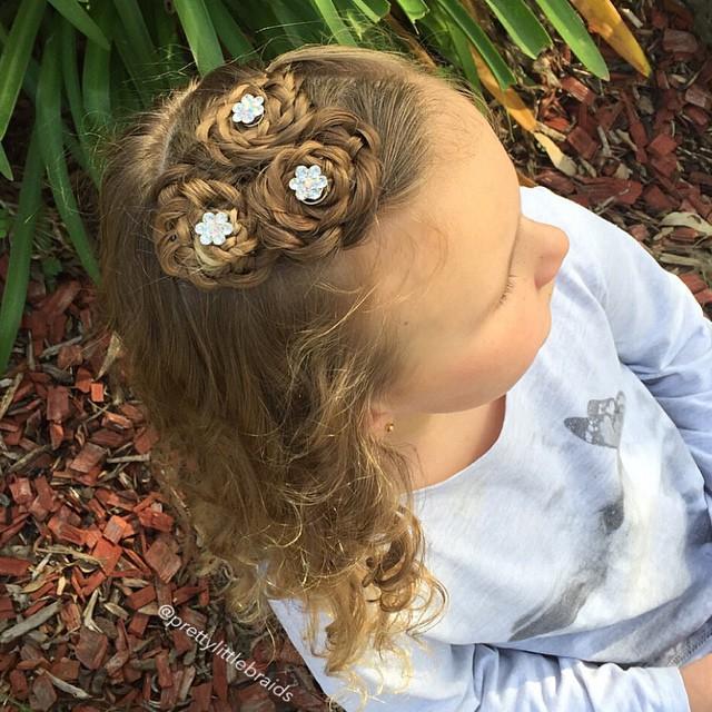 braided little girls hairstyle