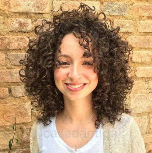 curly hair medium length styles 60 styles and cuts for naturally curly hair in 2018 3907 | 14 shoulder length brown curly hairstyle