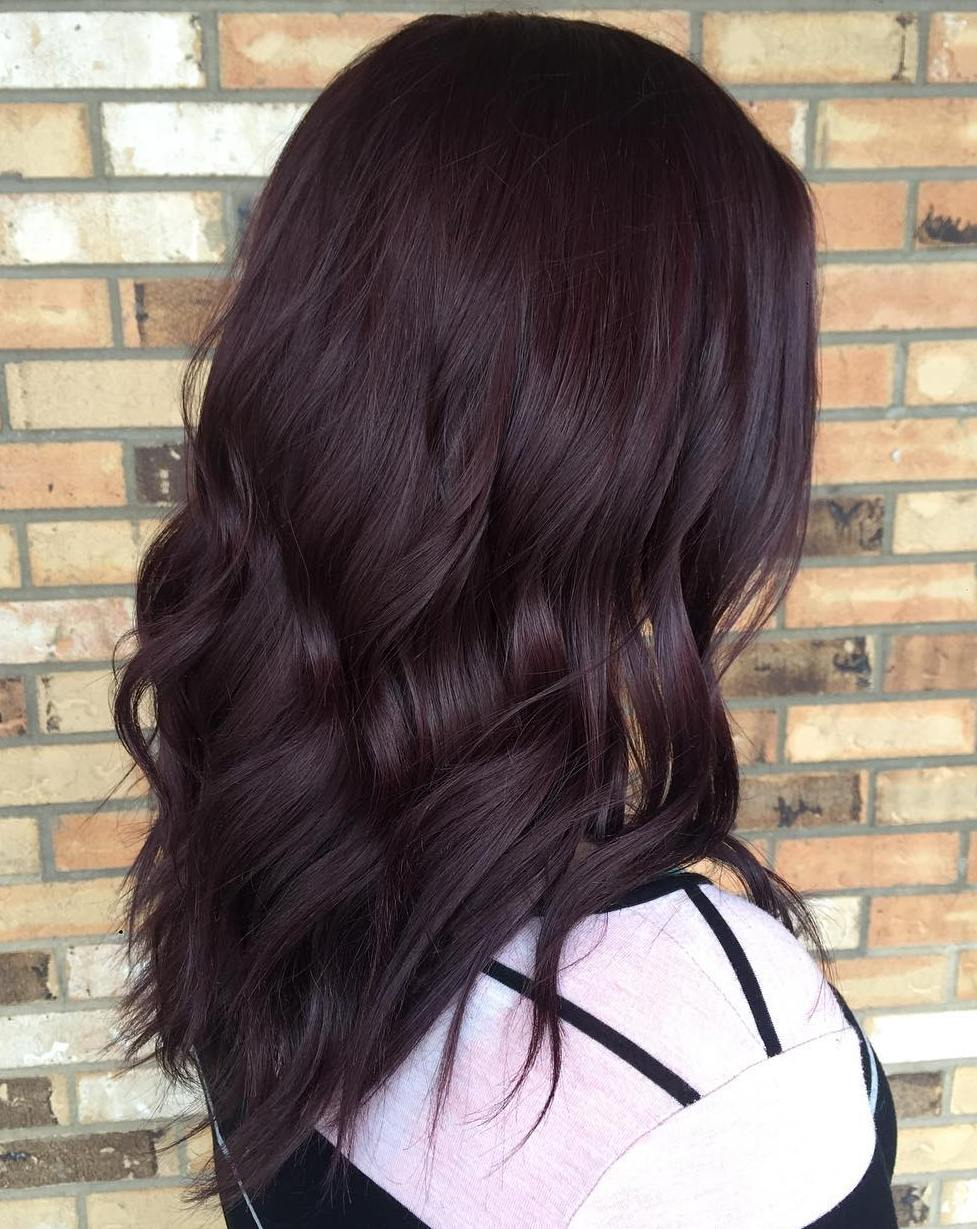 Dark Brown Hair Color With Red Highlights