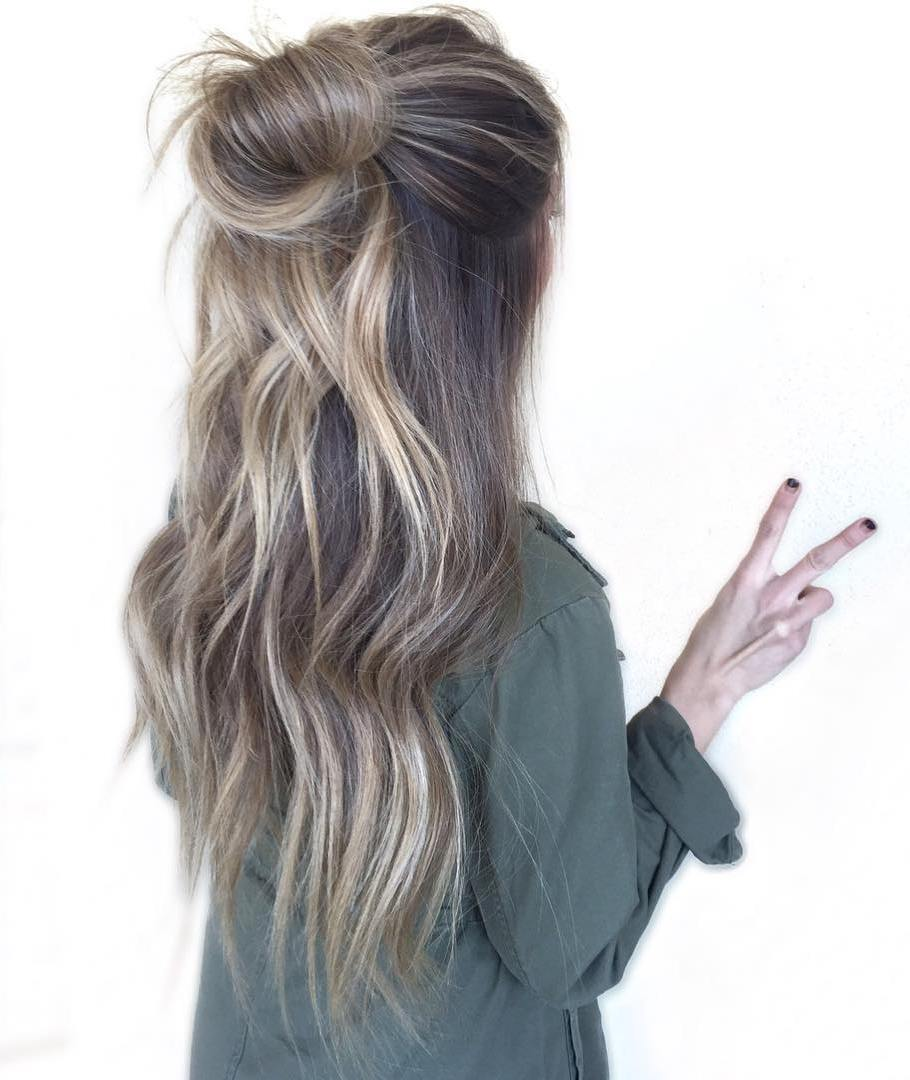 Bun Half Updo For Long Hair