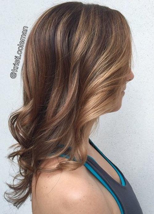 caramel highlights for fine hair