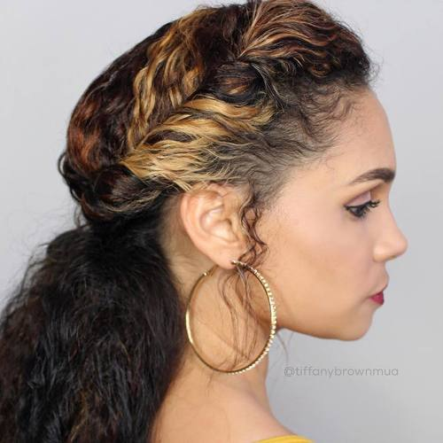 Crown Twist And Low Pony For Curly Hair