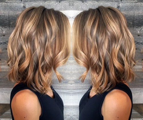 Light Brown Hair With Caramel Balayage