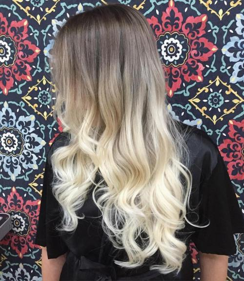 Long Blonde Ombre Hair