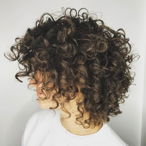 Medium Layered Curly Cut