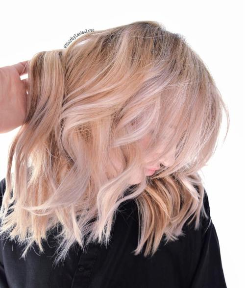 20 beautiful blonde hairstyles to play around with strawberry blonde bob with white highlights pmusecretfo Images
