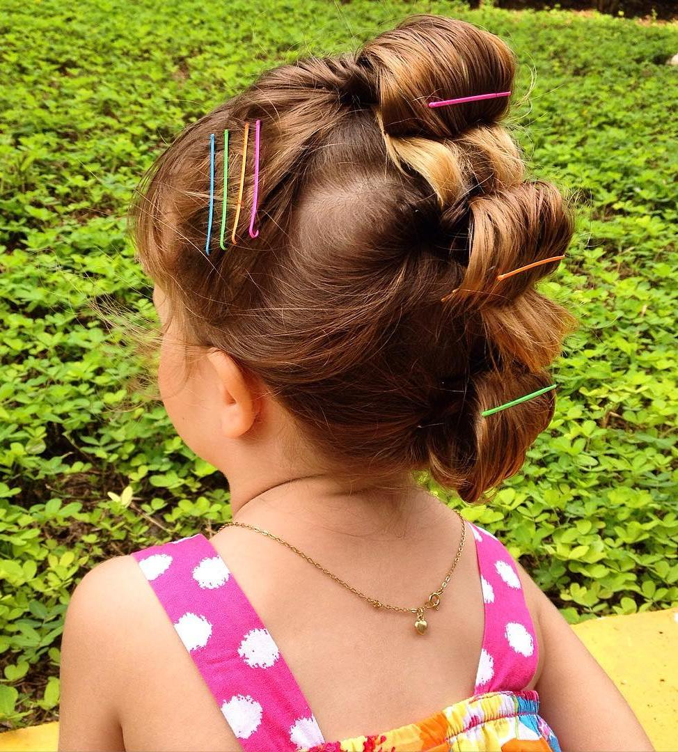Fauxhawk Updo For Little Girls