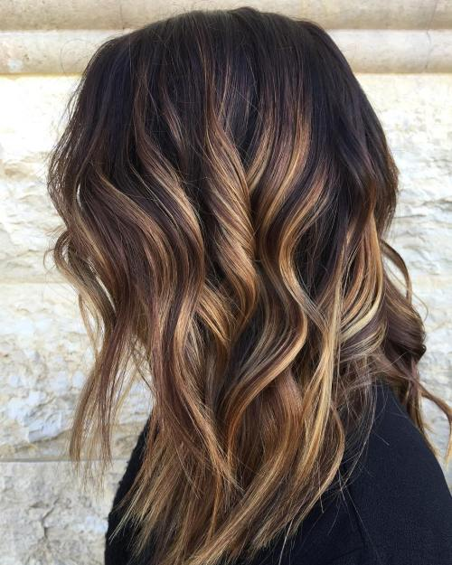 Fine 60 Looks With Caramel Highlights On Brown And Dark Brown Hair Short Hairstyles For Black Women Fulllsitofus