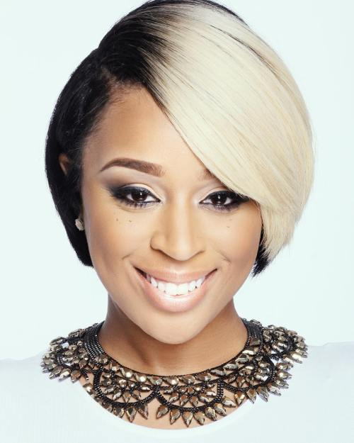 Short Black And Blonde Hairstyle
